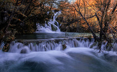 Photograph - Blue Waterfalls by Jaroslaw Blaminsky
