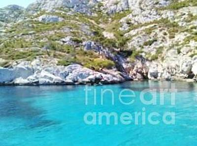 Photograph - Blue Waters Of Greece by Tim Townsend