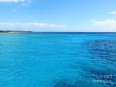Photograph - Blue Waters Of The Caribbean by Tim Townsend
