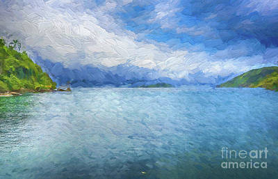 Digital Art - Blue Waters by Pravine Chester