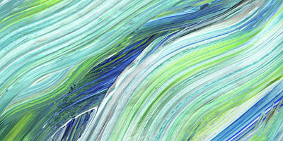 Painting - Blue Wave Abstract Art For Interior Decor I by Irina Sztukowski