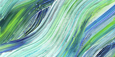 Painting - Blue Wave Abstract Art For Interior Decor II by Irina Sztukowski