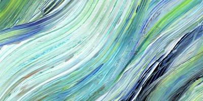 Painting - Blue Wave Abstract Art For Interior Decor IIi by Irina Sztukowski