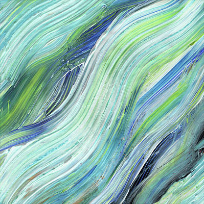 Painting - Blue Wave Abstract Art For Interior Decor Vi by Irina Sztukowski