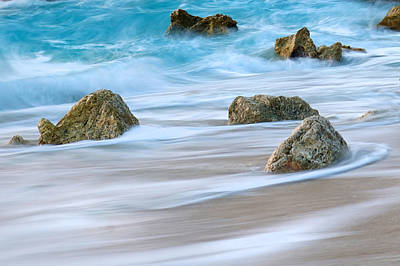 Lefkada Photograph - Blue Wave And Rocks On A Paradise Island Greece by Sandra Rugina