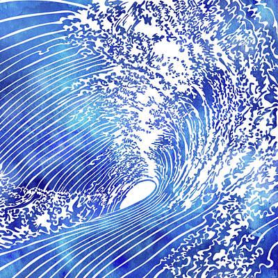 Blue Wave II Art Print