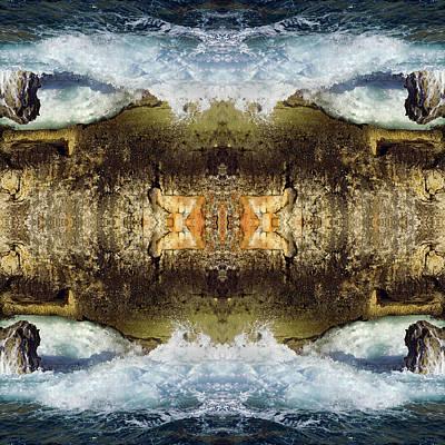 Jonny Jelinek Royalty-Free and Rights-Managed Images - Blue Waves and Ancient Rocks I by Jonny Jelinek