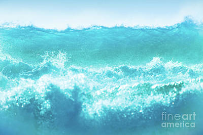 Photograph - Blue Waves Background by Anna Om
