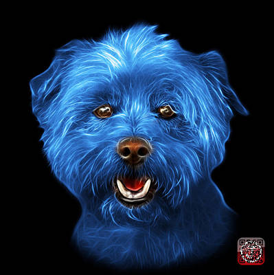 Mixed Media - Blue West Highland Terrier Mix - 8674 - Bb by James Ahn