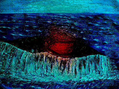 Pietyz Abstractz Artz World Painting - Blue Whale 2 by Piety Dsilva