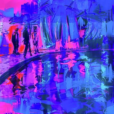 Digital Art - Blue Whale Exhibit by Jim Vance