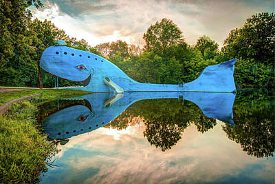 Photograph - Blue Whale Of Route 66 - Owasso Oklahoma by Gregory Ballos