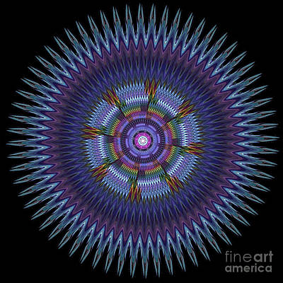 Digital Art - Blue Wheel Mandala by Elizabeth Alexander