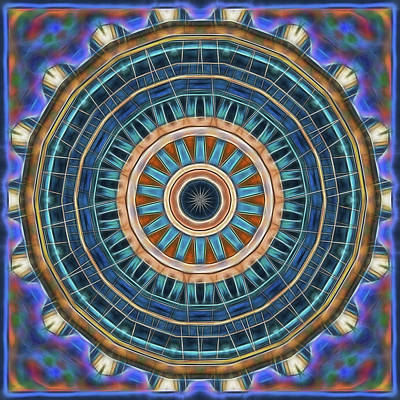 Digital Art - Blue Wheeler 2 by Wendy J St Christopher