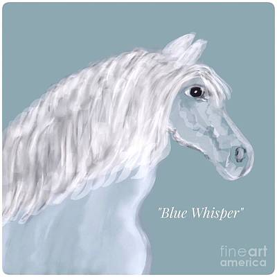 Photograph - Blue Whisper Horse Illustration  by Susan Garren