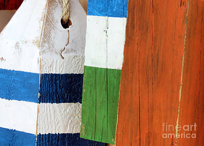 Photograph - Blue White Green Orange  by Janice Drew