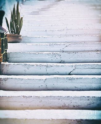 Photograph - Blue White Steps by Patricia Hofmeester