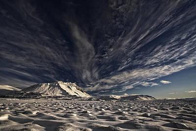 Winter Landscape Photograph - Blue  White by Thorsteinn H. Ingibergsson