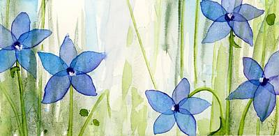 Painting - Blue Wildflowers by Dawn Derman