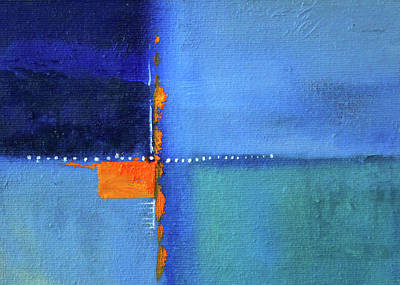 Painting - Blue Window Abstract by Nancy Merkle