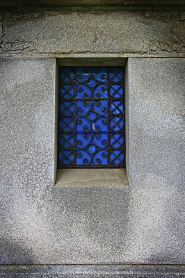 Blue Window Art Print by Bud Simpson