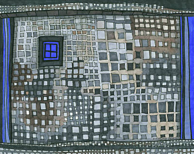Drawing - Blue Blue Windows by Sandra Church