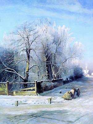 Mixed Media Royalty Free Images - Blue Winter Days Royalty-Free Image by Georgiana Romanovna