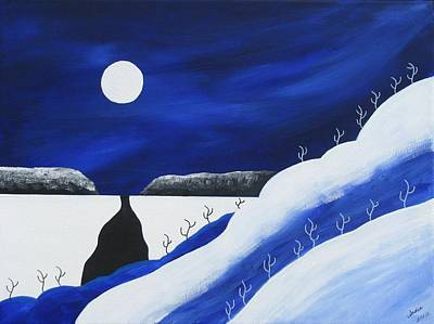 Painting - Blue Winter by Heidi Moss