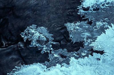 Photograph - Blue Winter Masterpiece. Frozen Nature by Jenny Rainbow