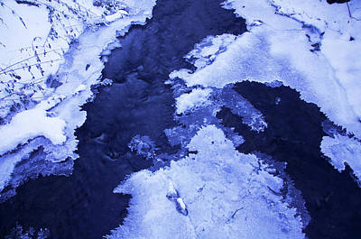 Photograph - Blue Winter Patterns 3. Frozen Nature by Jenny Rainbow