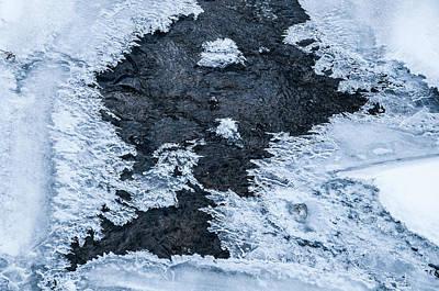 Photograph - Blue Winter Patterns 4. Frozen Nature by Jenny Rainbow