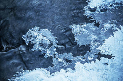 Photograph - Blue Winter Patterns. Frozen Nature by Jenny Rainbow