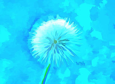 Weed Digital Art - Blue Wishes by Krissy Katsimbras