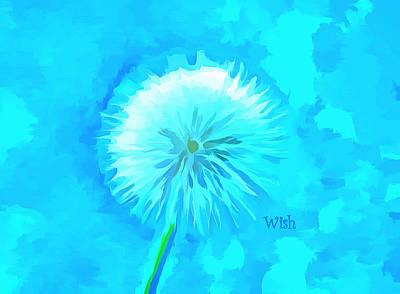 Believe Digital Art - Blue Wishes by Krissy Katsimbras