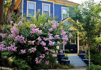 Photograph - Blue With Yellow Trim House by Cynthia Guinn