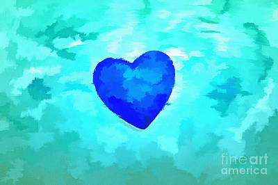 Abstract Hearts Photograph - Blue Without You by Krissy Katsimbras