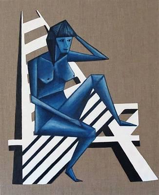 Painting - Blue Woman by Tamara Savchenko