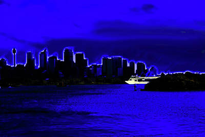 Photograph - Blue Wonders Of Sydney by Miroslava Jurcik