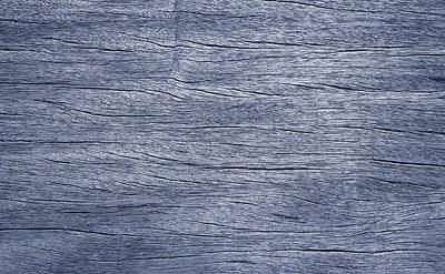 Photograph - Blue Wood Grain by John Cardamone