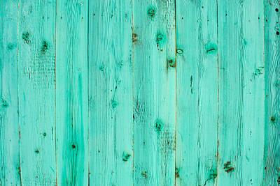 Blue Wooden Planks Art Print by John Williams