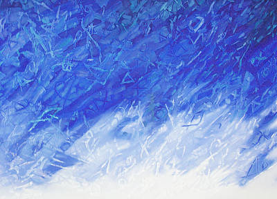 Mixed Media - Blue World by Saadi Babely