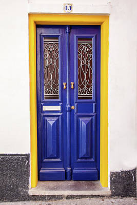 Photograph - Blue Yellow Door by David Letts