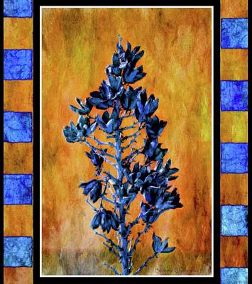 Las Cruces New Mexico Digital Art - Blue Yucca by Barbara Chichester