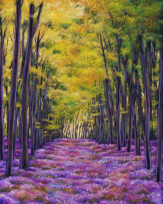 French Country Painting - Bluebell Expanse by Johnathan Harris