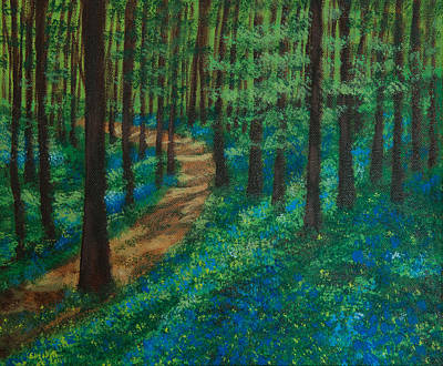Painting - Bluebell Forest by Elizabeth Mundaden