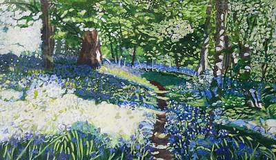 Bluebell Forest Art Print