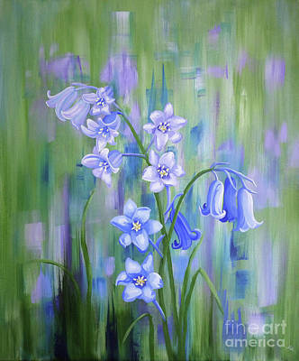 Bluebell Haze Art Print