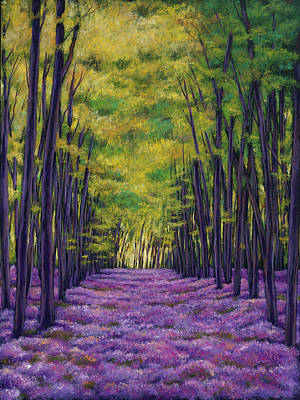 Expressionistic Painting - Bluebell Vista by Johnathan Harris