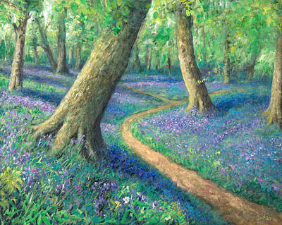 Bluebells Painting - Bluebell Wood by Sandra Delaney