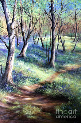 Painting - Bluebell Wood by Valerie Travers